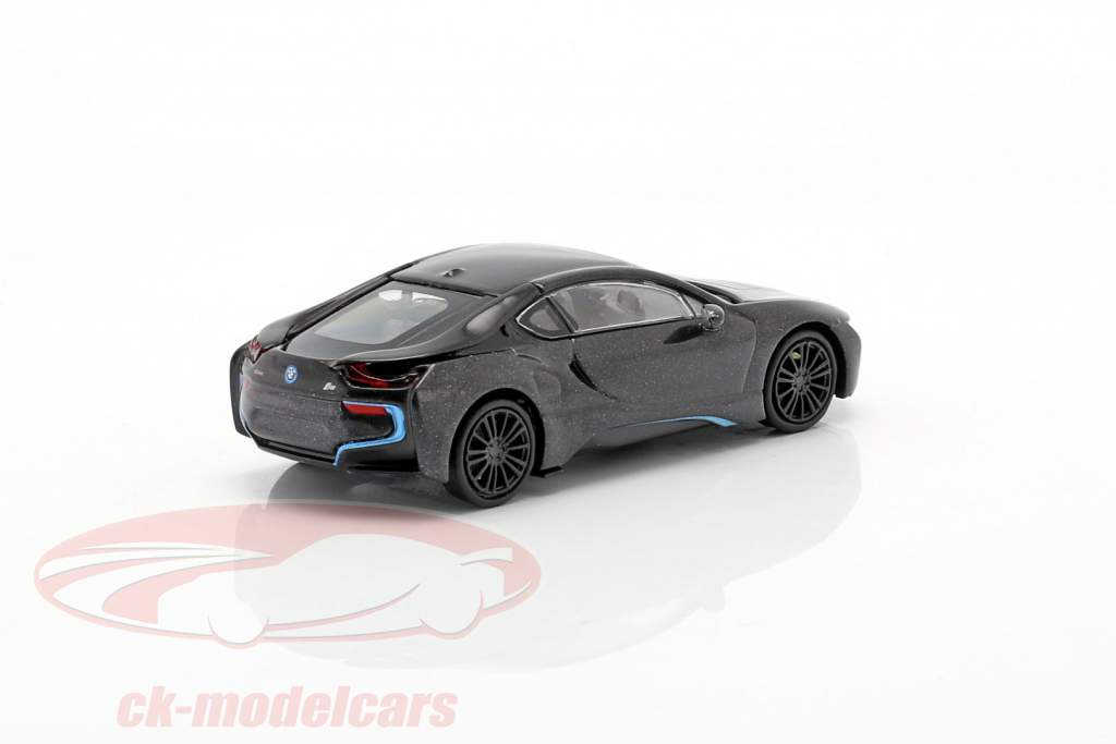 BMW i8 Coupe (I12) Ano de construção 2015 cinza escuro metálico 1:87 Minichamps