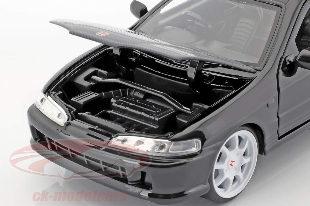 Honda Integra Type R Bouwjaar 1995 zwart 1:24 Jada Toys