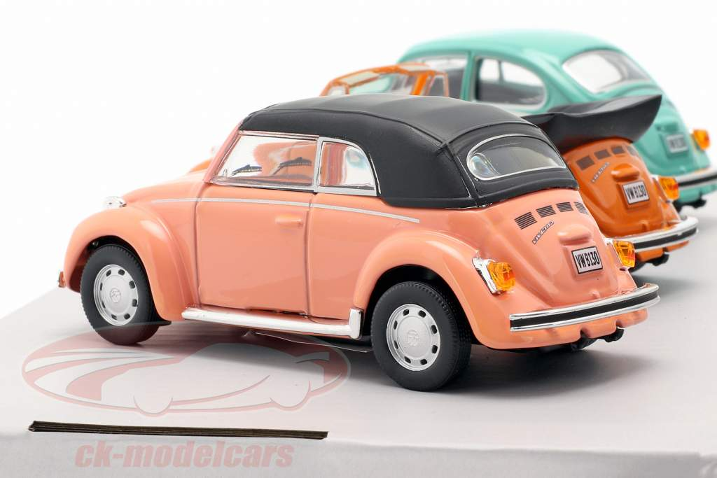 3-Car Set Volkswagen VW bille B130 1:43 Cararama