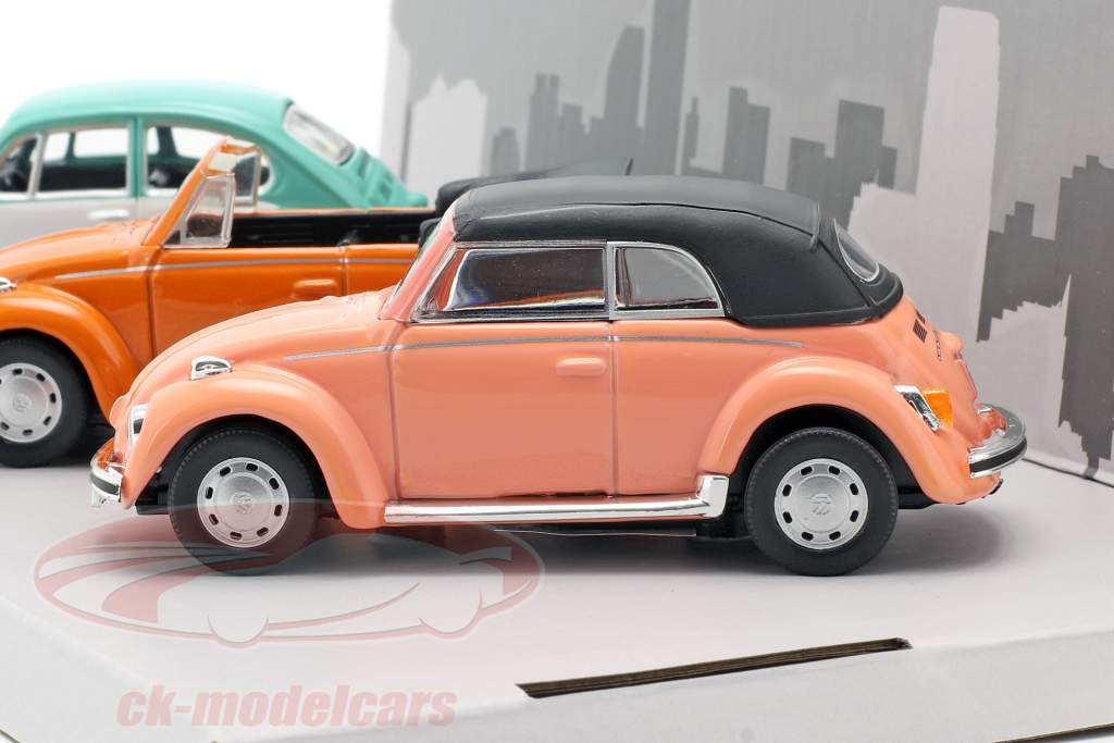 3-Car Set Volkswagen VW Kever B130 1:43 Cararama