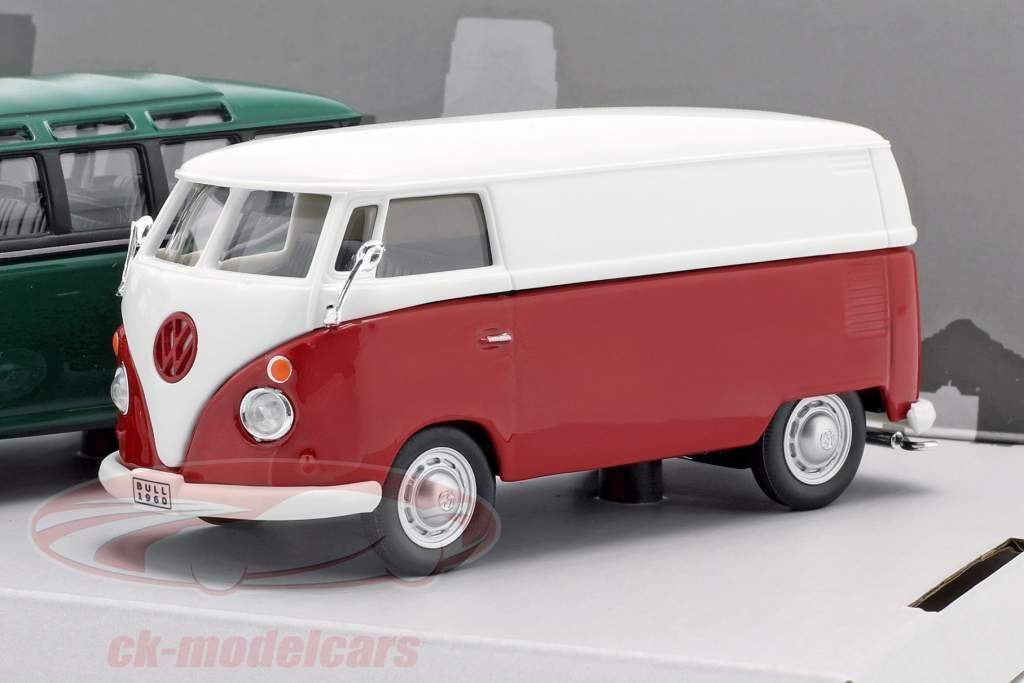3-Car Set Volkswagen VW Bulli T1 Samba Anno di costruzione 1960 1:43 Cararama