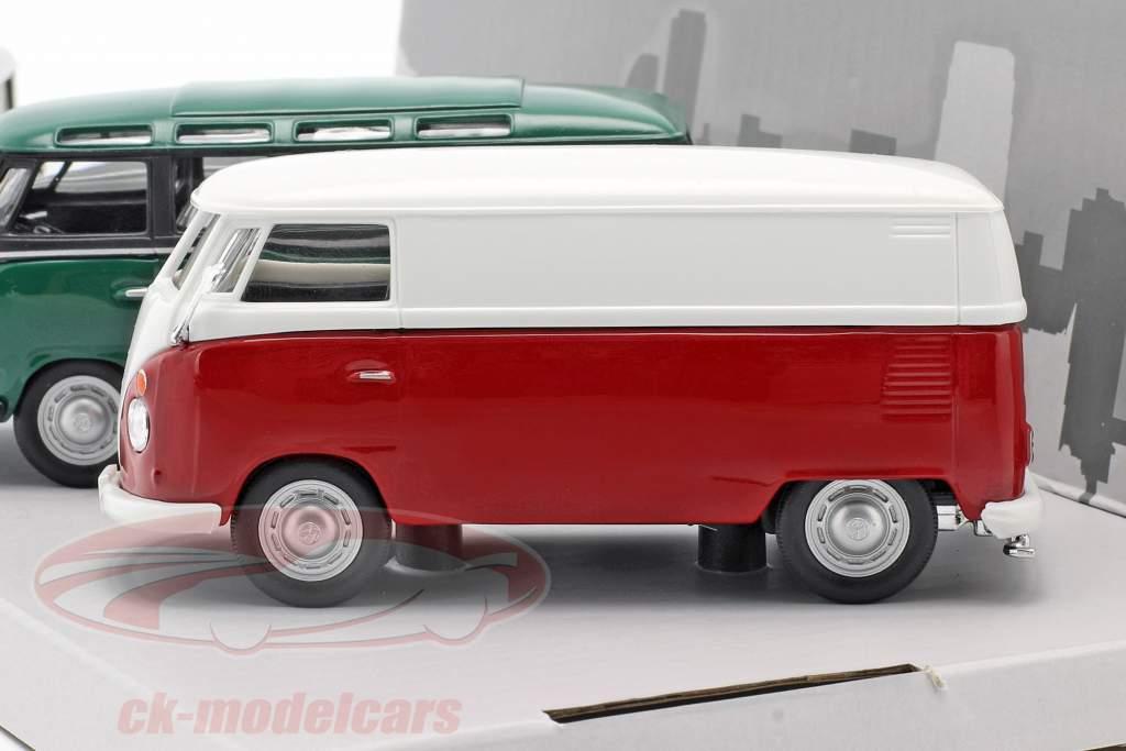 3-Car Set Volkswagen VW Bulli T1 Samba year 1960 1:43 Cararama