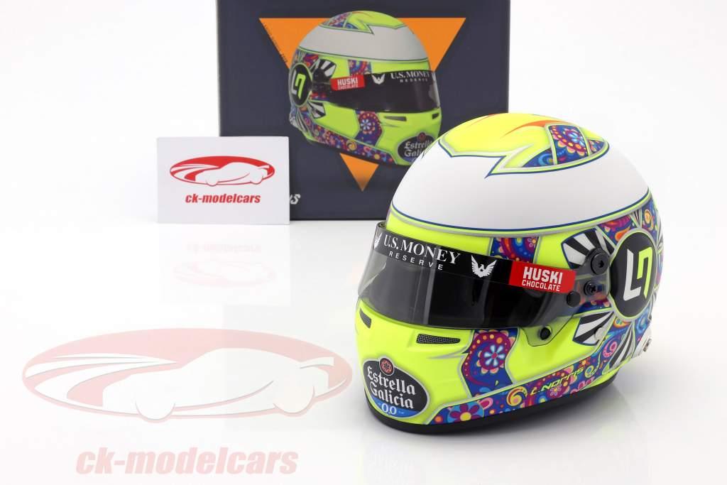 Lando Norris McLaren MCL34 #4 Mexico GP Formula 1 2019 Casco 1:2 Bell
