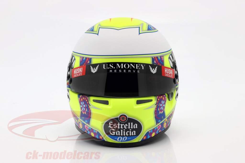 Lando Norris McLaren MCL34 #4 Messico GP formula 1 2019 casco 1:2 Bell