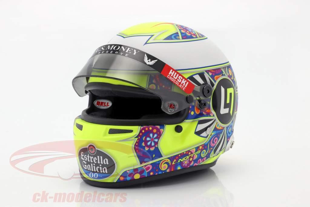 Lando Norris McLaren MCL34 #4 Mexiko GP Formel 1 2019 Helm 1:2 Bell