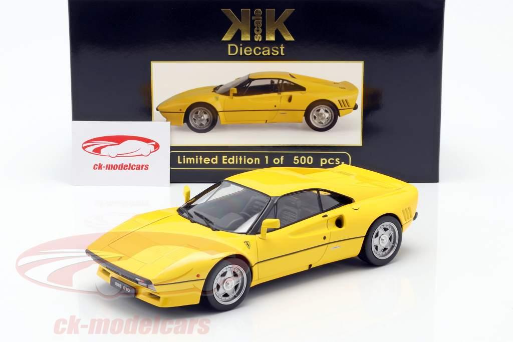 Ferrari 288 GTO Byggeår 1984 gul 1:18 KK-Scale