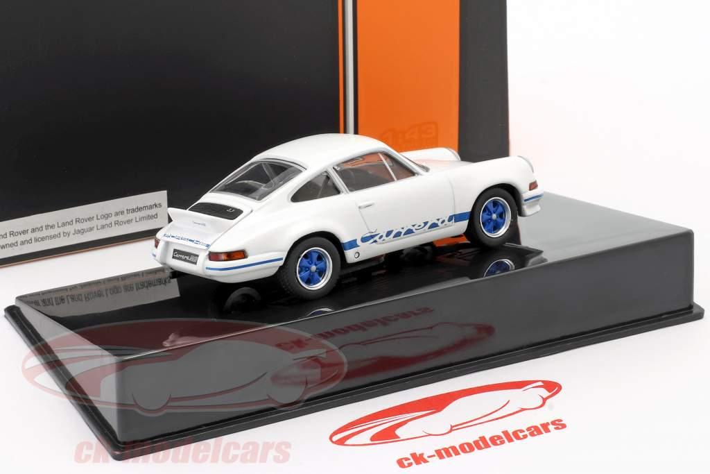 Porsche 911 Carrera RS 2.7 Año de construcción 1973 blanco / azul 1:43 Ixo