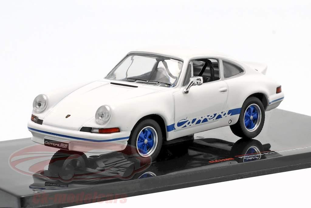 Porsche 911 Carrera RS 2.7 Anno di costruzione 1973 bianco / blu 1:43 Ixo