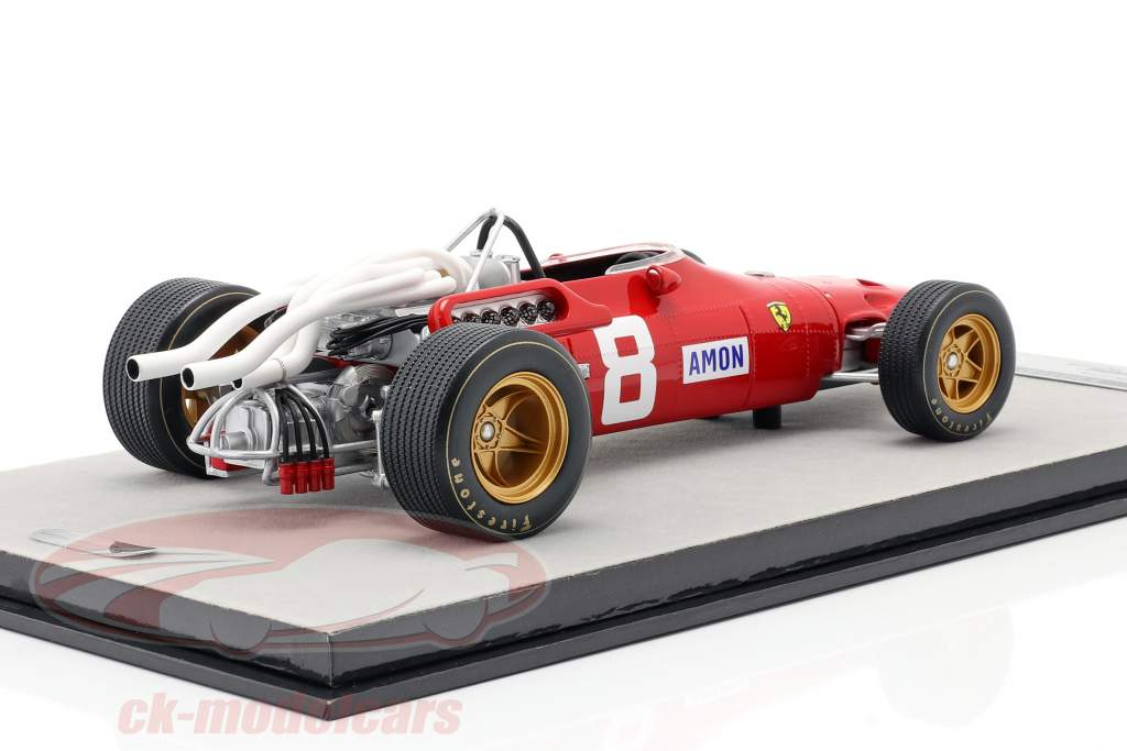 Chris Amon Ferrari 312/67 #8 3e Duits GP Formule 1 1967 1:18 Tecnomodel