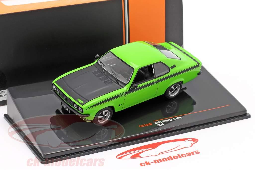 Opel Manta A GT/E Ano de construção 1974 verde / preto 1:43 Ixo