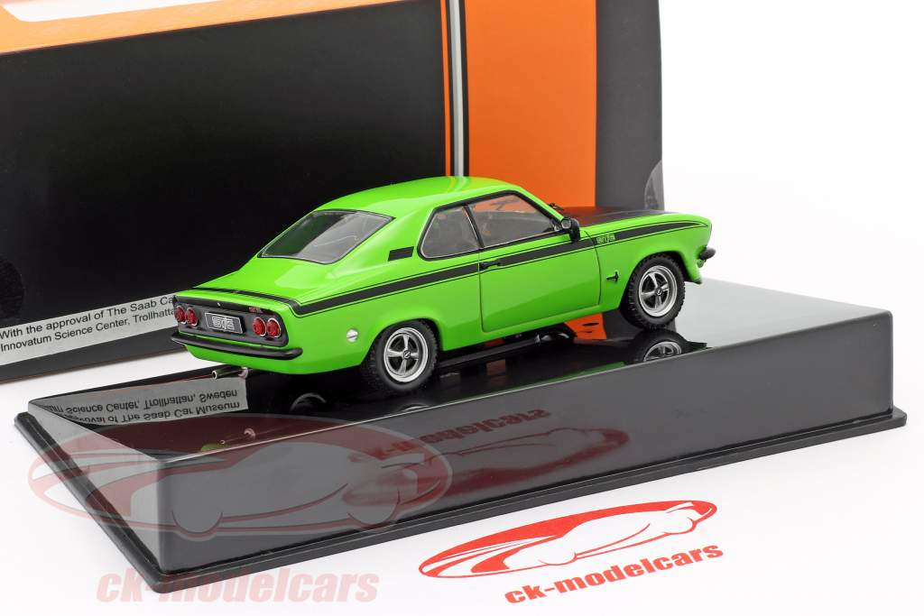 Opel Manta A GT/E Bouwjaar 1974 groen / zwart 1:43 Ixo