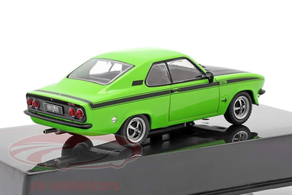Opel Manta A GT/E Baujahr 1974 grün / schwarz 1:43 Ixo