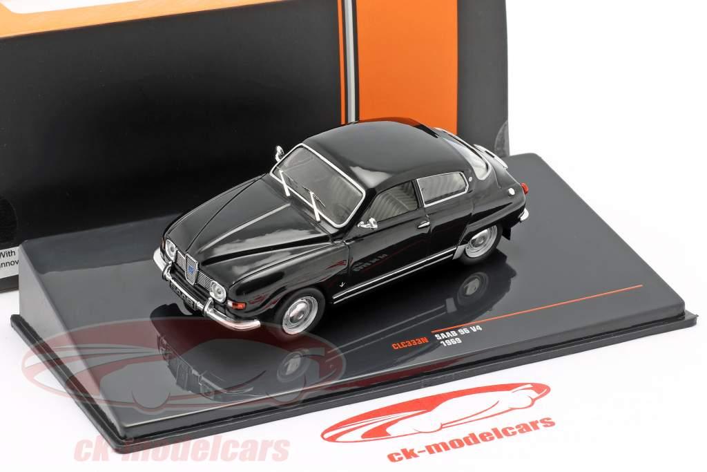 Saab 96 V4 Año de construcción 1969 negro 1:43 Ixo