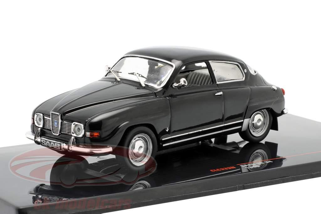 Saab 96 V4 Ano de construção 1969 preto 1:43 Ixo
