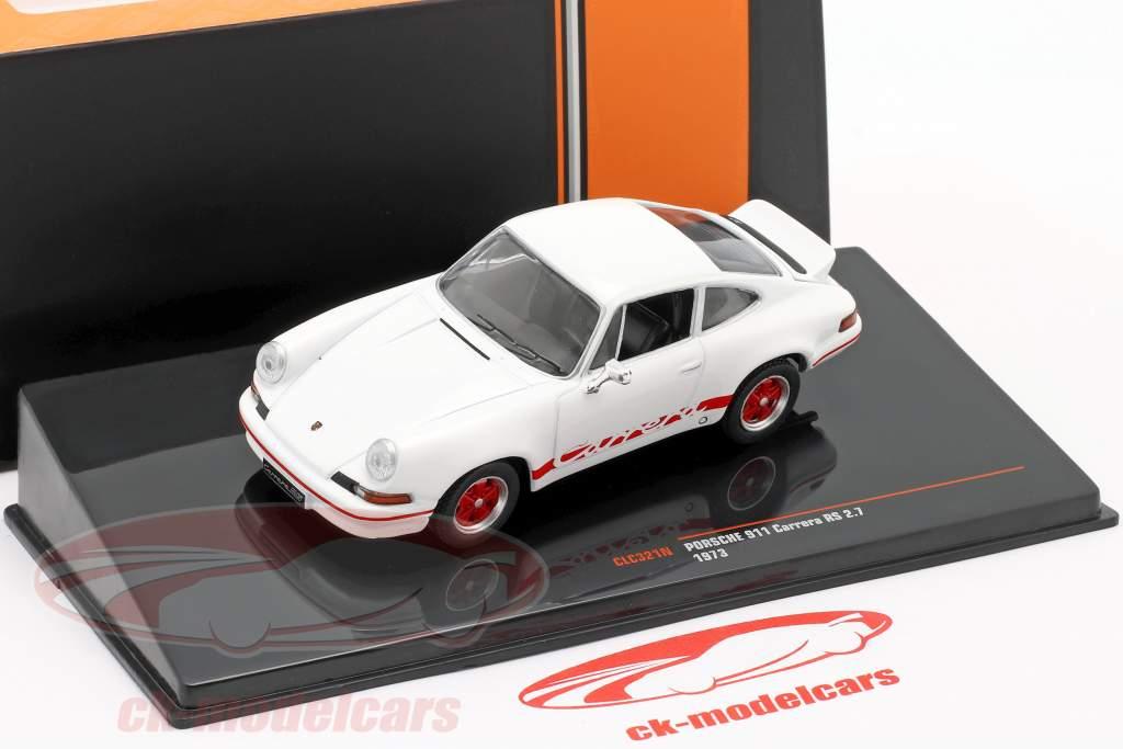 Porsche 911 Carrera RS 2.7 Bouwjaar 1973 wit / rood 1:43 Ixo