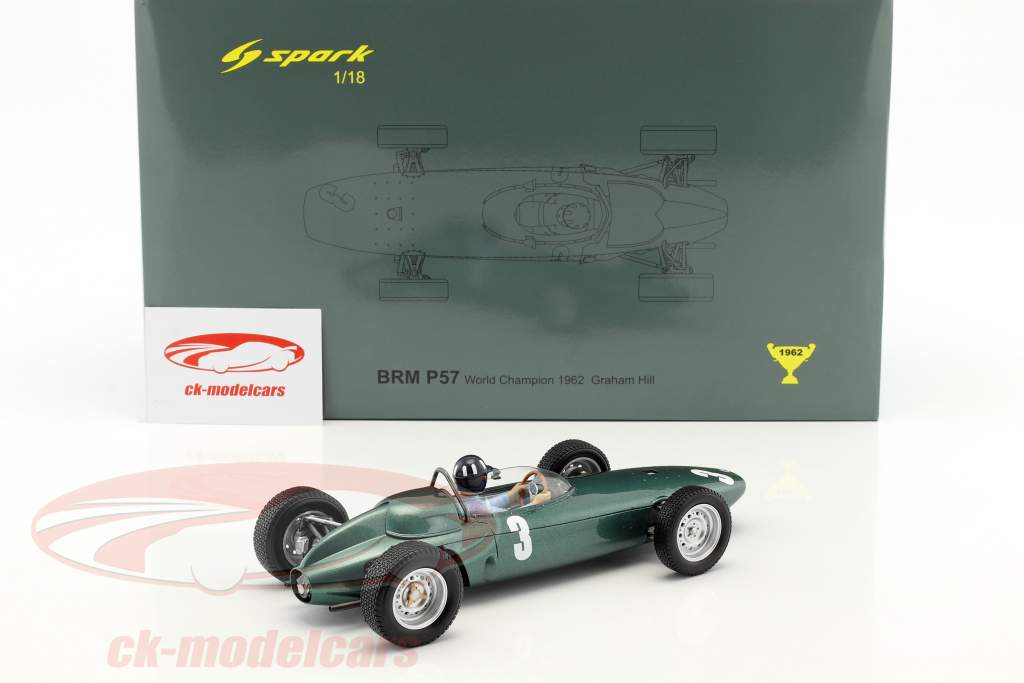 Graham Hill BRM P57 #3 Weltmeister Südafrika GP Formel 1 1962 1:18 Spark / 2. Wahl