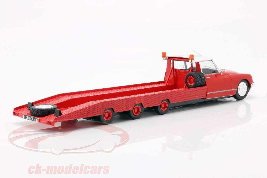 Citroen DS Tissier auto trasportatore Anno di costruzione 1970 rosso 1:18 CMR