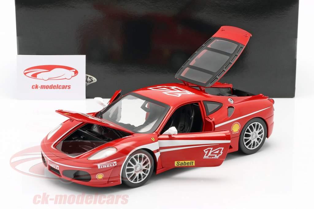 Ferrari F430 Challenge #14 year 2005 red 1:18 HotWheels