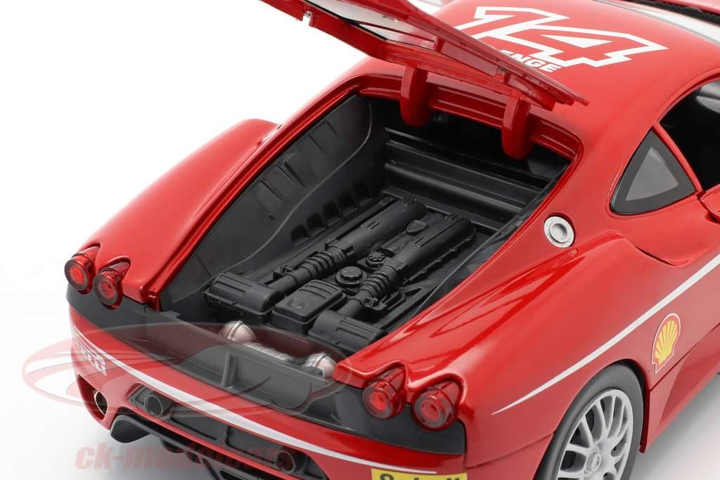 Ferrari F430 Challenge #14 jaar 2005 rood 1:18 HotWheels