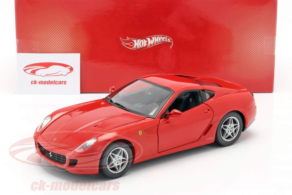 Ferrari 599 GTB Fiorano Baujahr 2006 rot 1:18 HotWheels