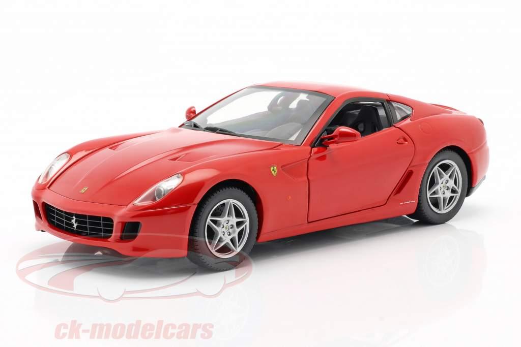 Ferrari 599 GTB Fiorano år 2006 rød 1:18 HotWheels