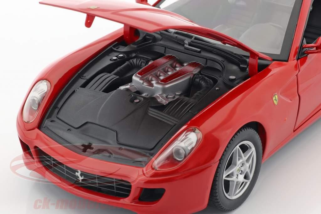 Ferrari 599 GTB Fiorano jaar 2006 rood 1:18 HotWheels