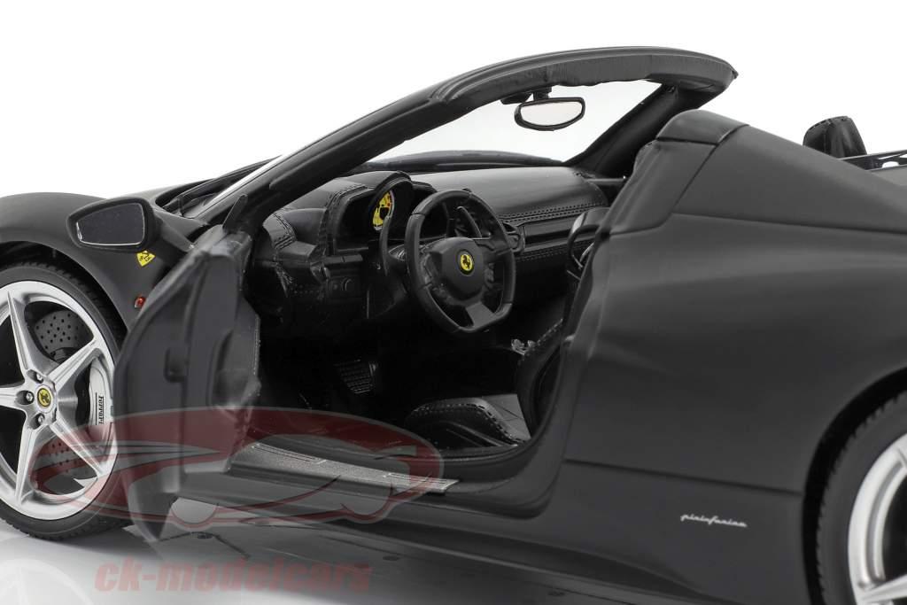 Ferrari 458 Italia Année 2011 noire mat 1:18 HotWheels patrimoine