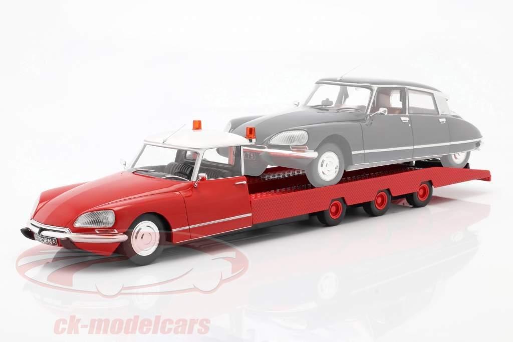 Citroen DS Tissier Car transporter year 1970 red 1:18 CMR
