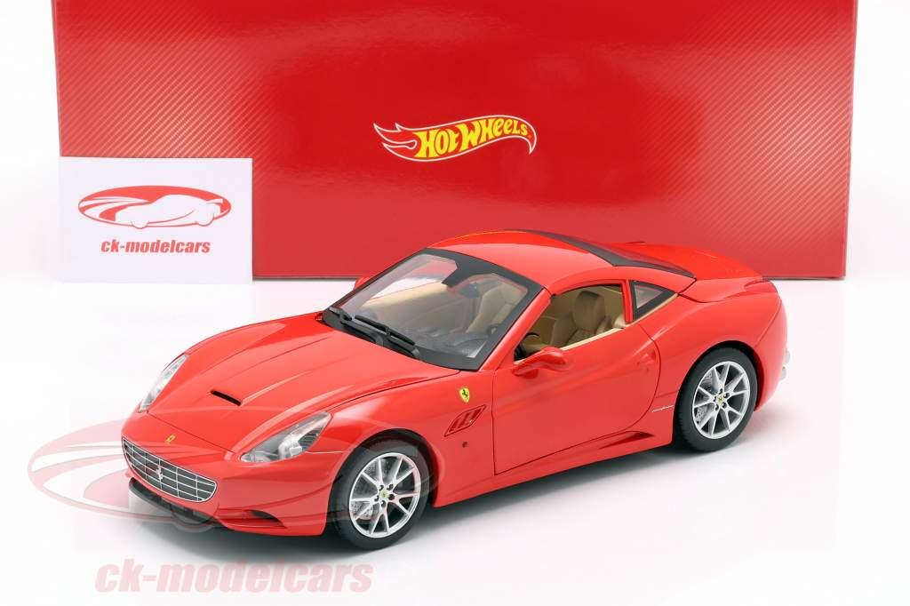 Ferrari California V8 Anno 2008 rosso con Hardtop 1:18 HotWheels Foundation