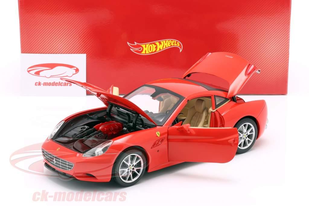 Ferrari California V8 Jaar 2008 rood met Hardtop 1:18 HotWheels Foundation