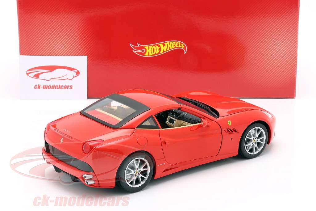 Ferrari California V8 Year 2008 red with Hardtop 1:18 HotWheels Foundation