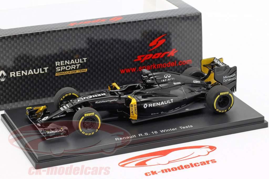 K. Magnussen & J. Palmer Renault R.S.16 hiver essais formule 1 2016 1:43 Spark