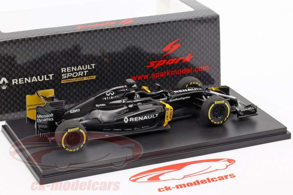 K. Magnussen & J. Palmer Renault R.S.16 inverno test formula 1 2016 1:43 Spark