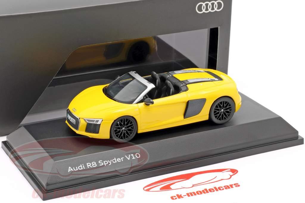 Audi R8 Spyder V10 vegas gul 1:43 Herpa