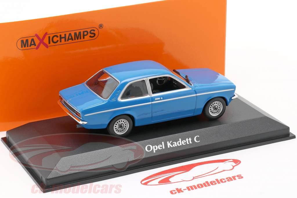 Opel Kadett C anno 1974 blu 1:43 Minichamps