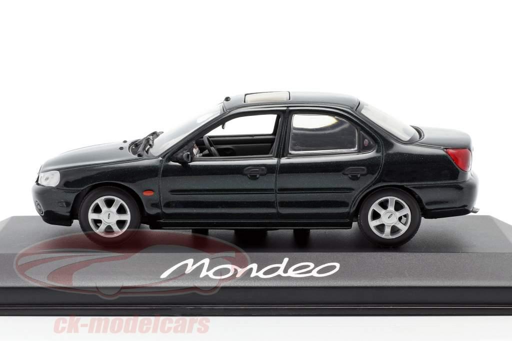 Ford Mondeo Limousine année 1996 vert foncé métallique 1:43 Minichamps
