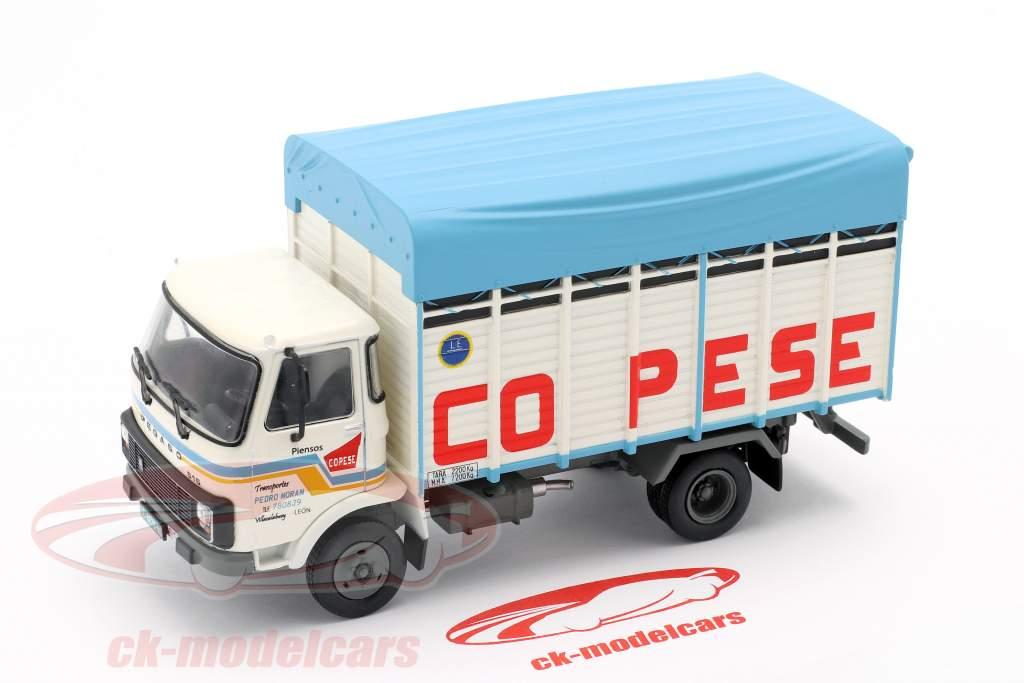 Pegaso 515 Truck Ano de construção 1983 branco / azul 1:43 Altaya