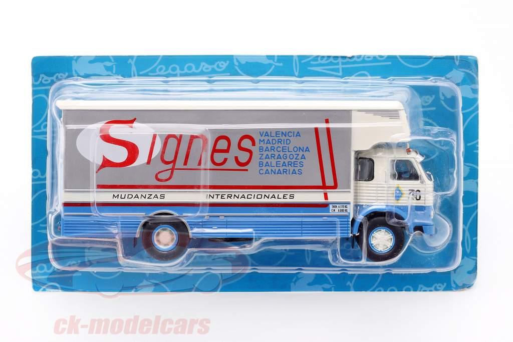 Pegaso 1065 L Europa Truck year 1970 blue / white / red 1:43 Altaya
