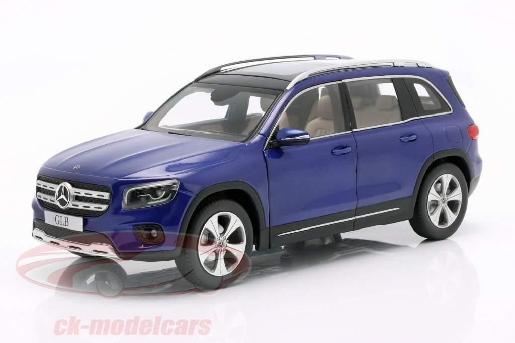 Mercedes-Benz GLB (X247) Byggeår 2019 galaxy blå 1:18 Z-Models