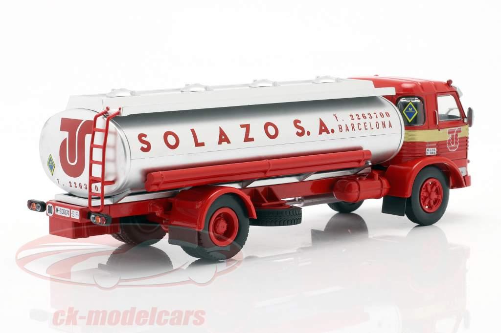 Pegaso 1065 L Europa Solazo Tanker year 1969 red / silver 1:43 Altaya