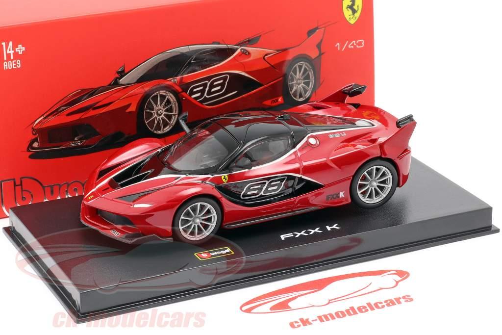 Ferrari FXX-K #88 red / black 1:43 Bburago Signature