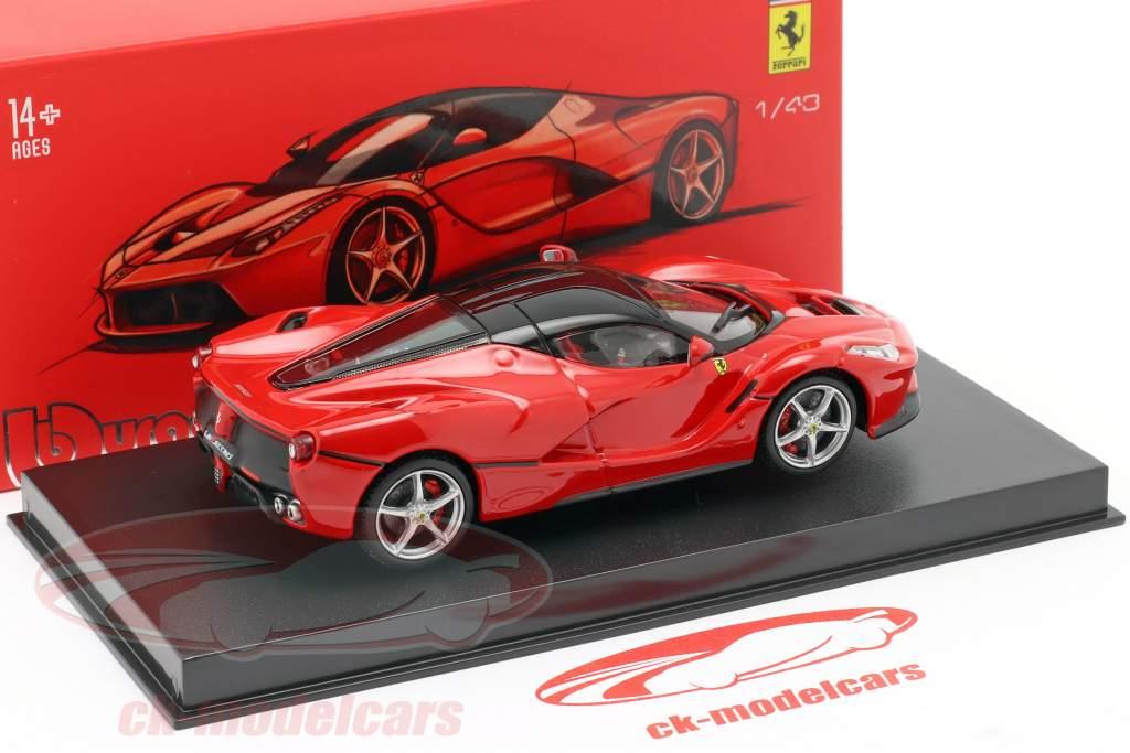 Ferrari LaFerrari vermelho / preto 1:43 Bburago Signature