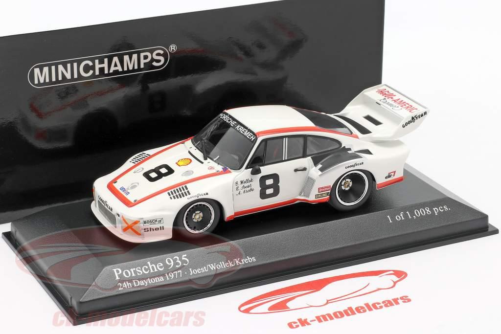Porsche 935 #8 3. lugar 24h Daytona 1977 Joest, Wollek, Krebs 1:43 Minichamps