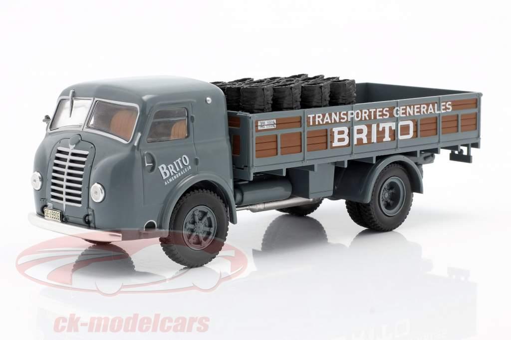 Pegaso I Flatbed truck Brito Byggeår 1946 grå / brun 1:43 Altaya