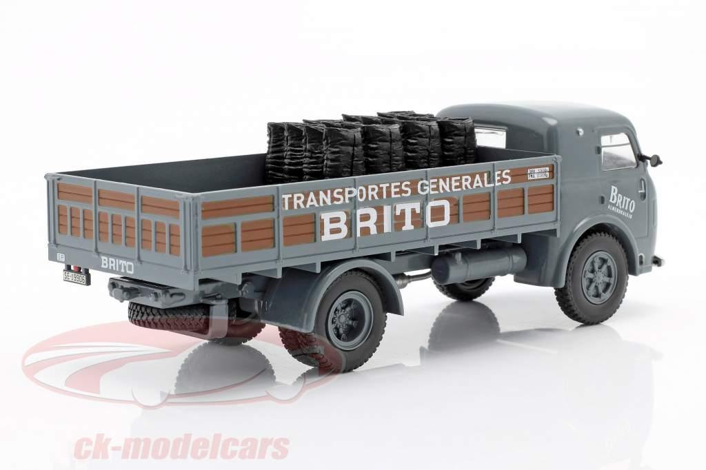 Pegaso I Platte vrachtwagen Brito Bouwjaar 1946 grijs / bruin 1:43 Altaya