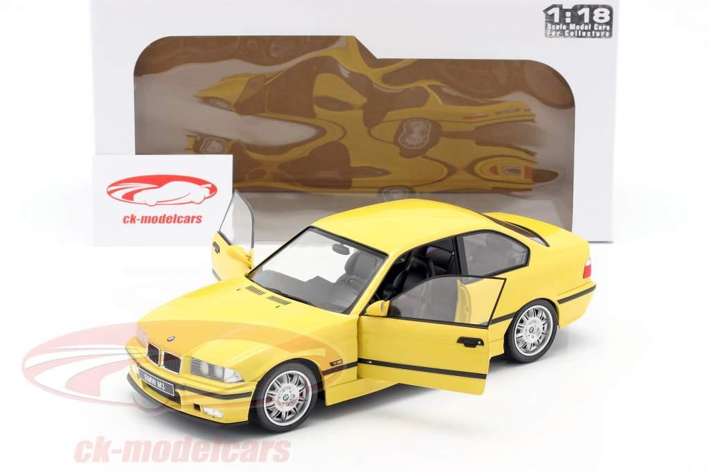 BMW M3 Coupe (E36) Bouwjaar 1994 Dakar geel 1:18 Solido