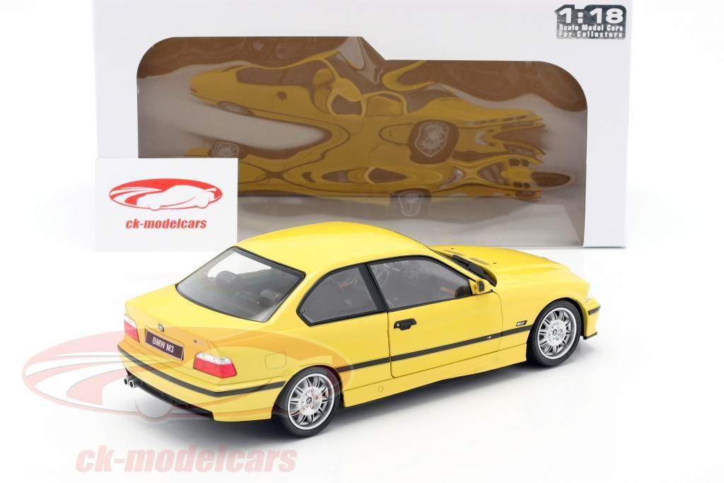 BMW M3 Coupe (E36) year 1994 Dakar yellow 1:18 Solido
