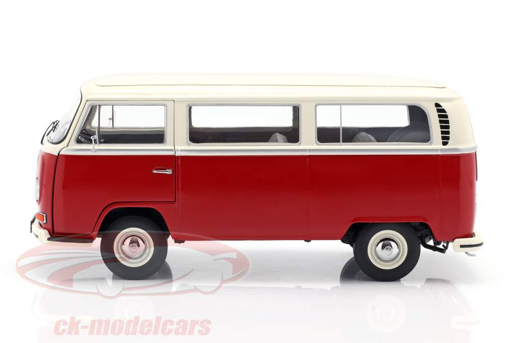 Volkswagen VW T2a autobus Anno di costruzione 1967 rosso / bianco 1:18 Schuco