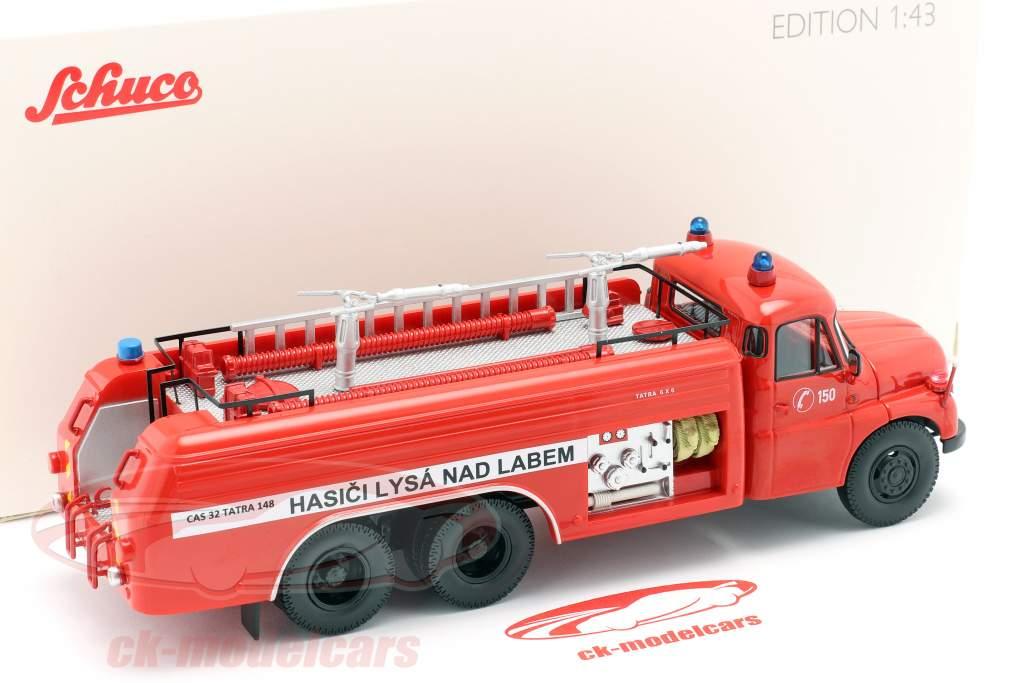Tatra T148 6x6 Brandweer Tsjechië Bouwjaar 1968 rood 1:43 Schuco