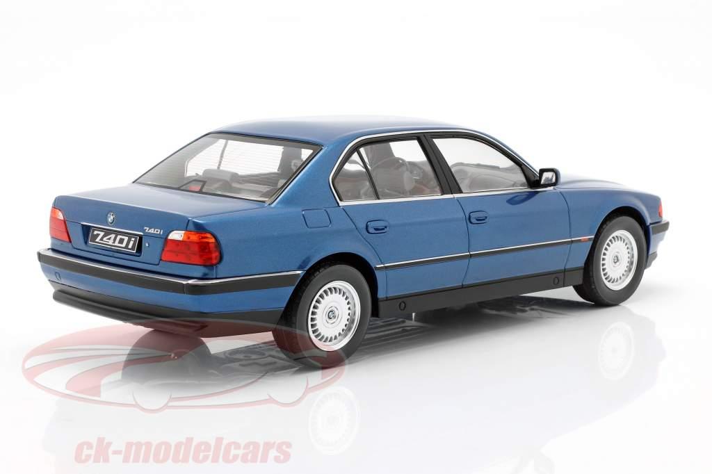 BMW 740i E38 1ère série Année de construction 1994 bleu métallique 1:18 Échelle KK